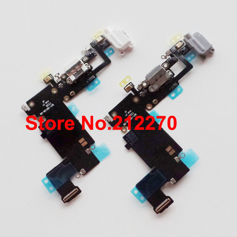 Free DHL EMS New Charger Charging Port Dock Mic Headphone Jack Flex Cable For iPhone 6S