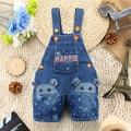 9 M-3 T Del Bebé Del Verano Pantalones Vaqueros de los Guardapolvos Niñas 3D Oso Infantil Niños Niños Denim Pantalones Cortos Mamelucos Del Mono para la Ropa de Niños