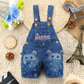 9M-3T Baby Summer Jeans Overalls Boys Girls 3D Bear Infant Toddlers Kids Denim Shorts  Rompers Jumpsuit  For Children Clothing