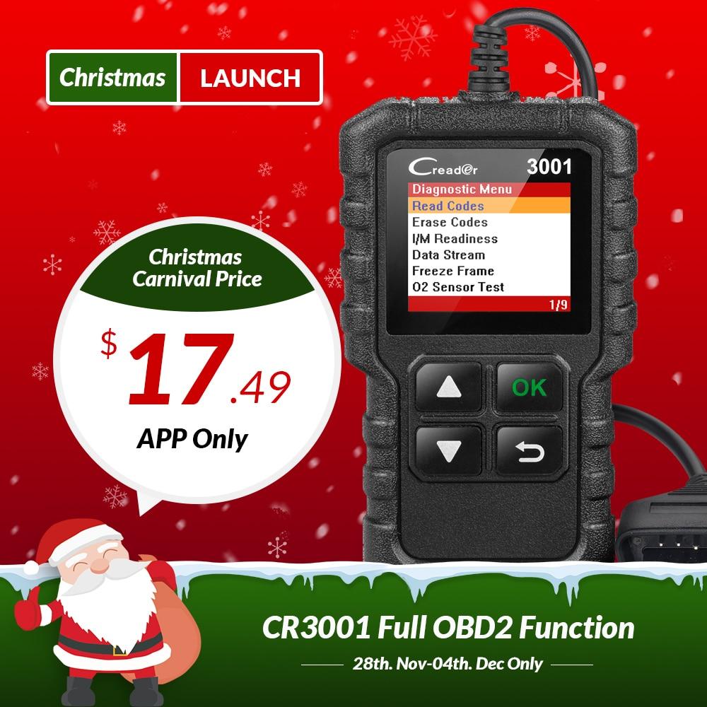 STARTEN X431 Creader 3001 Volle OBD2 OBDII Code Reader Scan tools OBD 2 CR3001 Auto Diagnose werkzeug PK AD310 ELM327 OM123 Scanner