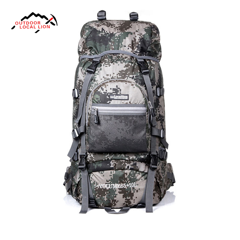 LOCAL LION Outdoor 75L Large Capacity Waterproof Hiking Backpack Camping Travel Climbing Bag Pack Women Men Sport Backpack large capacity women men outdoor bags climbing hiking camping backpack rucksacks travel sport bag high quality 8 colors
