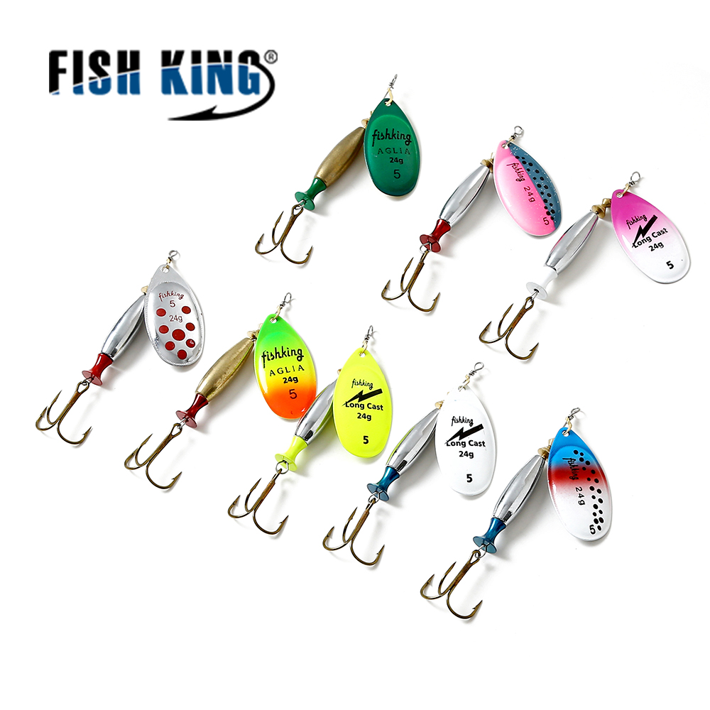 FISH KING Mepps Fishing Lure 18G 24G Spinners Spoon Bait Esche Artificiali Pesca Spinning Fishing Tackle Spoon Length 9cm 10CM рыболовный поплавок night fishing king 1012100014 mr 002