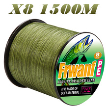 цена на Frwanf  1500m Braided Fishing Line X8 Multifilament Fishing Line 0.1-1.0mm PE Super Strong Top Quality Threads 6LB-300LB 8 Braid