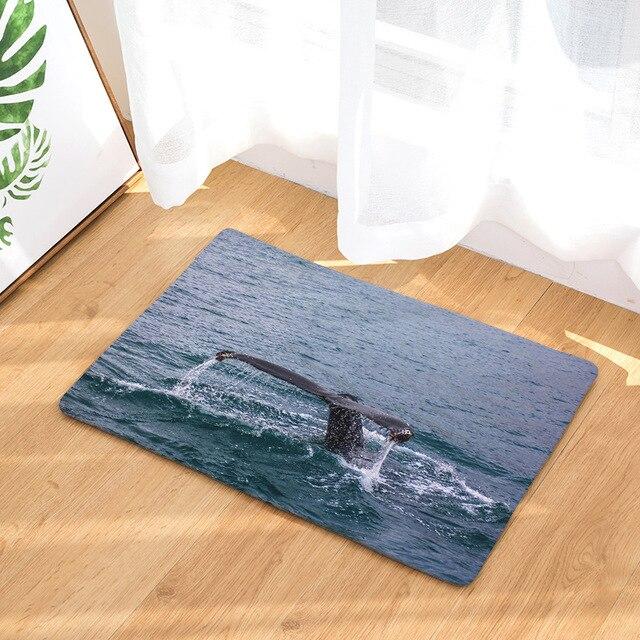 Whale Print Anti-Slip Rug 2