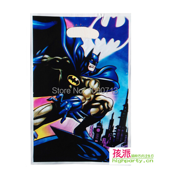 Free Shipping 12Pcs Lot The Batman Series Gift Bag Children Birthday Party Gifts Favor