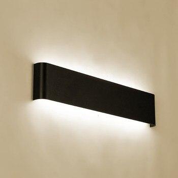 Minimalis Modern LED Aluminium Lampu Samping Tempat Tidur Lampu Lampu Dinding Kamar Mandi Cermin Cahaya Langsung Kreatif Lorong