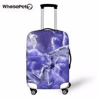WHOSEPETสายรุ้งยูนิคอร์นกรณีกระเป๋าฝาครอบป้องกันที่มีซิปกระเป๋าเดินทางครอบคลุมป้องกันฝุ่นส...