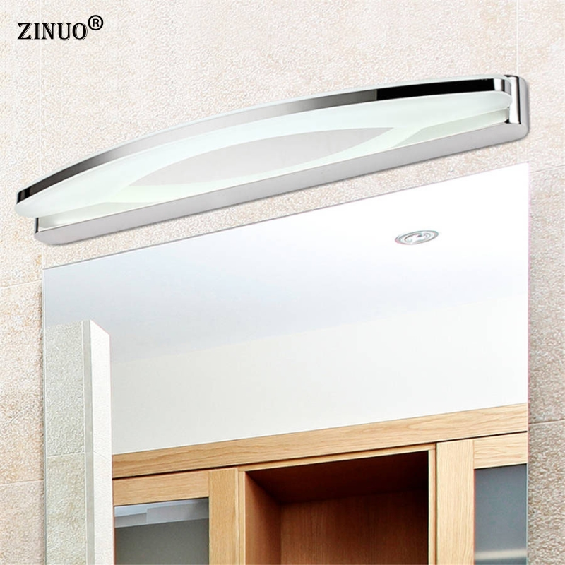 ZINUO Waterproof 12W 55CM Bathroom LED Mirror Front Lamp LED Wall Lamp For Bedroom Headboard Bathroom Light Wall Sconce Lamp lamp wall wall bathroom bathroom light headboard waterproof 12w lamp front bedroom led for 55cm mirror lamp led sconce