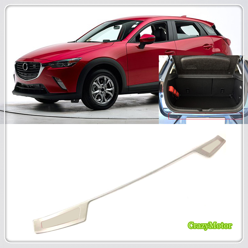 For Mazda CX-3 CX3 2015 2016 2017 2018 Outer Car Styling Stainless Rear Bumper Trunk Fender Sill Plate Protector Guard Cover 1* 1 piece stainless steel rear trunk sill rear inner scuff protector cover plate for mazda cx 5 cx5 2nd gen 2017 2018 accessories
