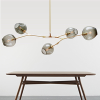 Modern Chandelier lighting luminaire lights Fixtures dining room restaurant lustres cristal Pendants Chandeliers lamp