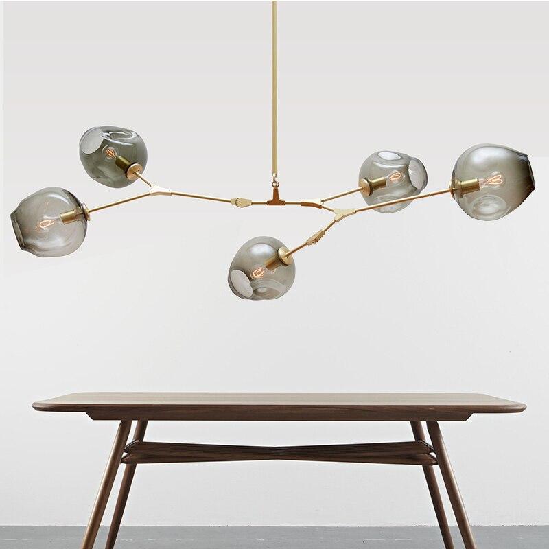 Moderne éclairage Lustre luminaire lumières Luminaires salle à manger restaurant lustres Pendentifs cristal Lustres lampe