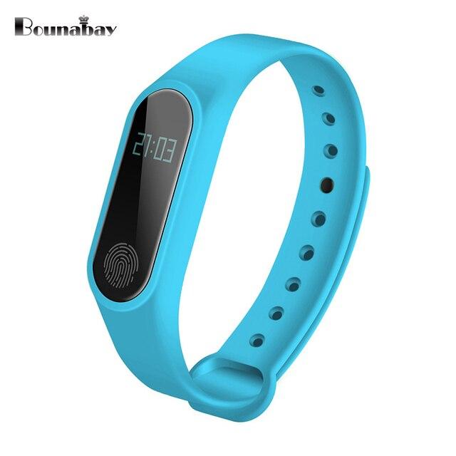 Bounabay Спорт Смарт Bluetooth браслет часы для женщин Touch часы Android IOS Телефон женские водонепроницаемые часы леди Wi-Fi часы