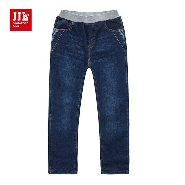 winter boys jeans elastic waist kids pants warm lining kids jeans 2016 elastic waist children jeans warm fleece lining