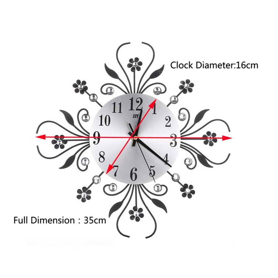 popular diamond plate wall buy cheap diamond plate wall lots from 2017 3d wall clock diamonds non ticking silent dazzling clock for home kitchen office diameter