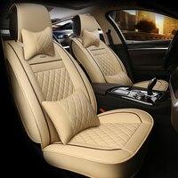 Hlfntf кожа Универсальный Автомобильный Чехлы для сидений мотоциклов для Toyota Corolla Camry Салонные аксессуары Чехлы на сиденья автомобиль Стайлин