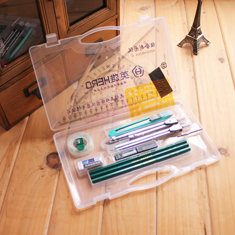 HERO combination plotter drawing compasses mechanical construction drawing tool set hero h2102 drawing metal divider big protractcr compasses available medical ecg