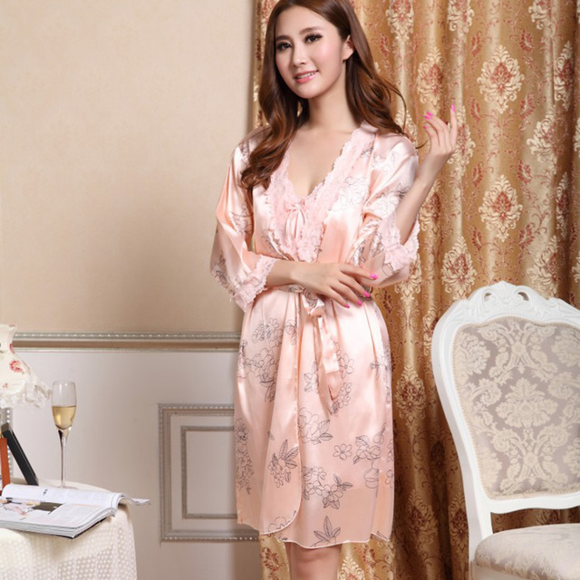0fd44ca1239 Summer Fashion Printed Homeware Sleep Tops Silk Strap Sexy Pajamas  Sleepwear Women Indoor Clothing Asian Tag Size M-XL