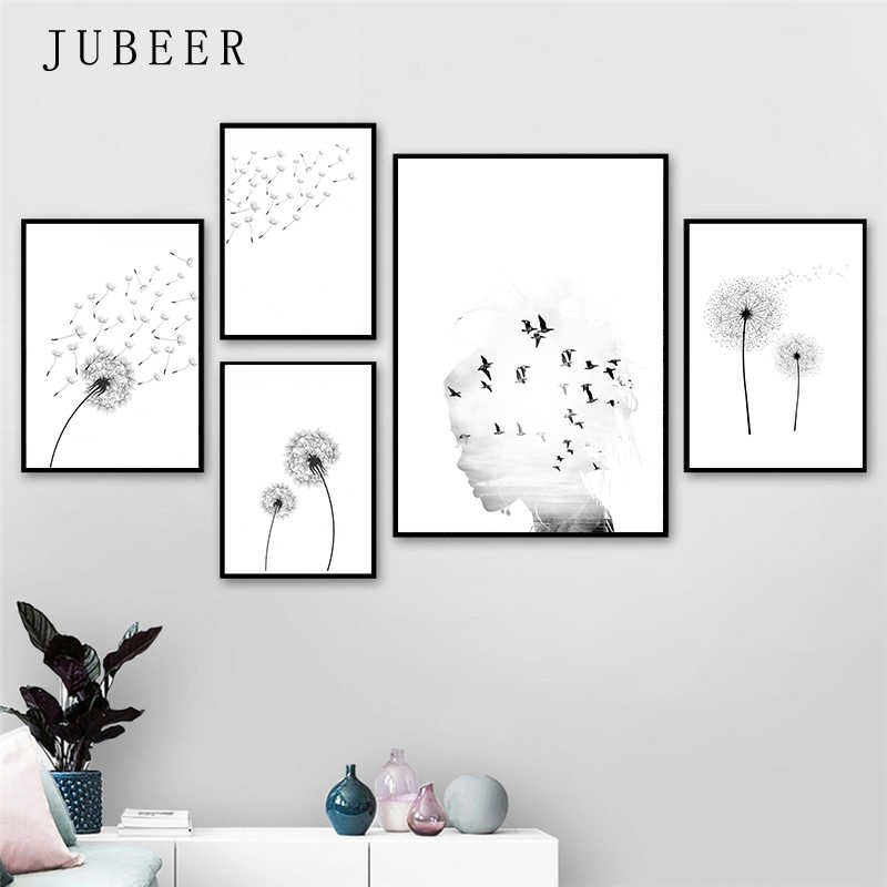 Scandinavian Style Poster Dandelion Posters and Prints Minimalist Wall Art Pictures Bedroom Decoration Nordic Decoration Home