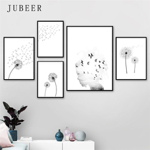Scandinavian Style Poster Dandelion Posters and Prints Minimalist Wall Art Pictures Bedroom Decoration Nordic Home