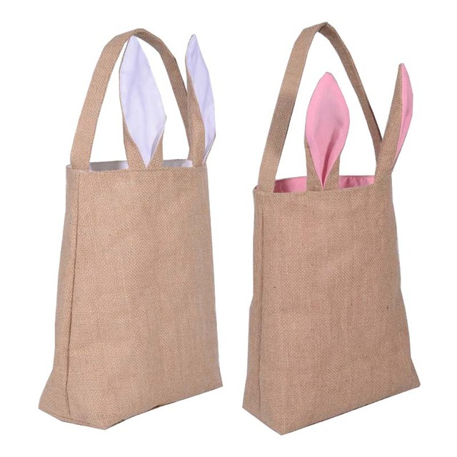 Wholesale blanks unique design burlap easter tote jute easter wholesale blanks unique design burlap easter tote jute easter bunny bag with bunny ears easter baskets negle Choice Image