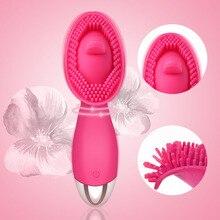 Guimi Krachtige Tepel Likken Tong Vibrator Kut Clit Massage Vrouwelijke Masturbator Clitoris Stimulator Erotische Speeltjes Voor Vrouw