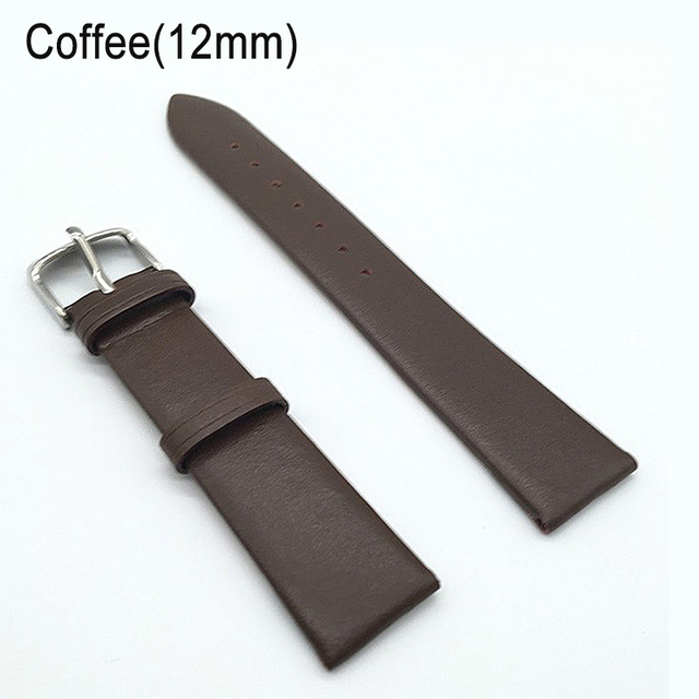 12/14/16/18/20/22mm Watch Band Strap Cow Leather Replacement Watchband for Men W