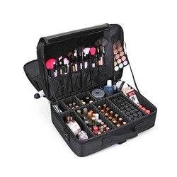 JPZYLFKZL New Women Cosmetic Bag High Quality Travel Cosmetic Organizer Zipper Portable Makeup Bag Designers Trunk Cosmetic Bags