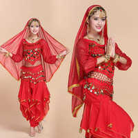 Belly Dance Suit Female Adult Indian Dancing Costumes Company Annual Meeting New Performing Apparel Long Sleeve Clothes H4529