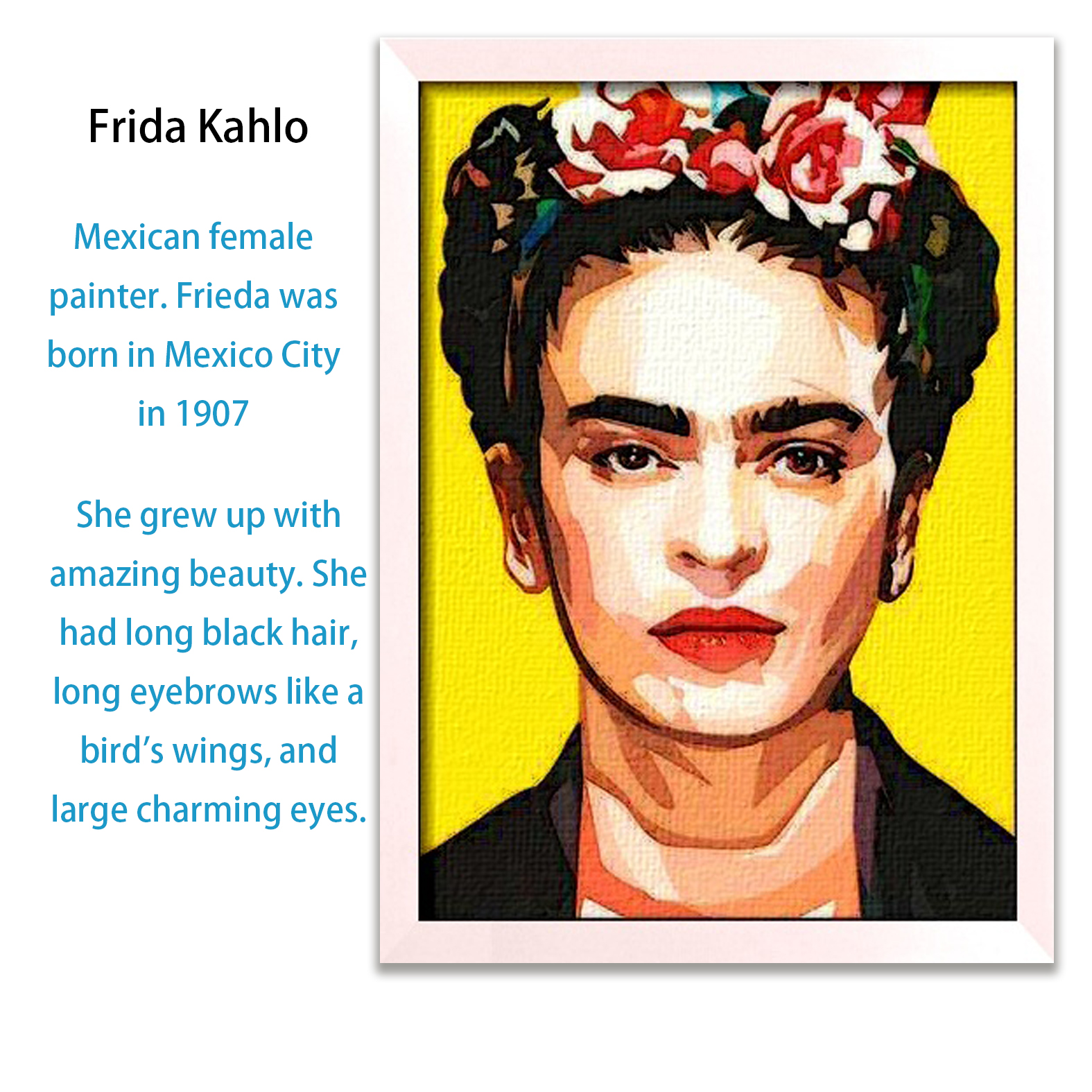 Hand Painted Frida Kahlo Figure Oil Painting Canvas Art portrait Oil Paintings Decorative Pictures.Free shipping