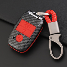 Carbon Fiber Silicone Car Key Cover Case For Kia Ceed Rio Sportage R K3 K4 K5 Ceed Sorento Cerato Optima 2015 2016 2017 2018 car seat protector car seat cover for kia ceed cerato sorento soul sportage rio optima 2017 2016 2015 2014 2013 cushion covers