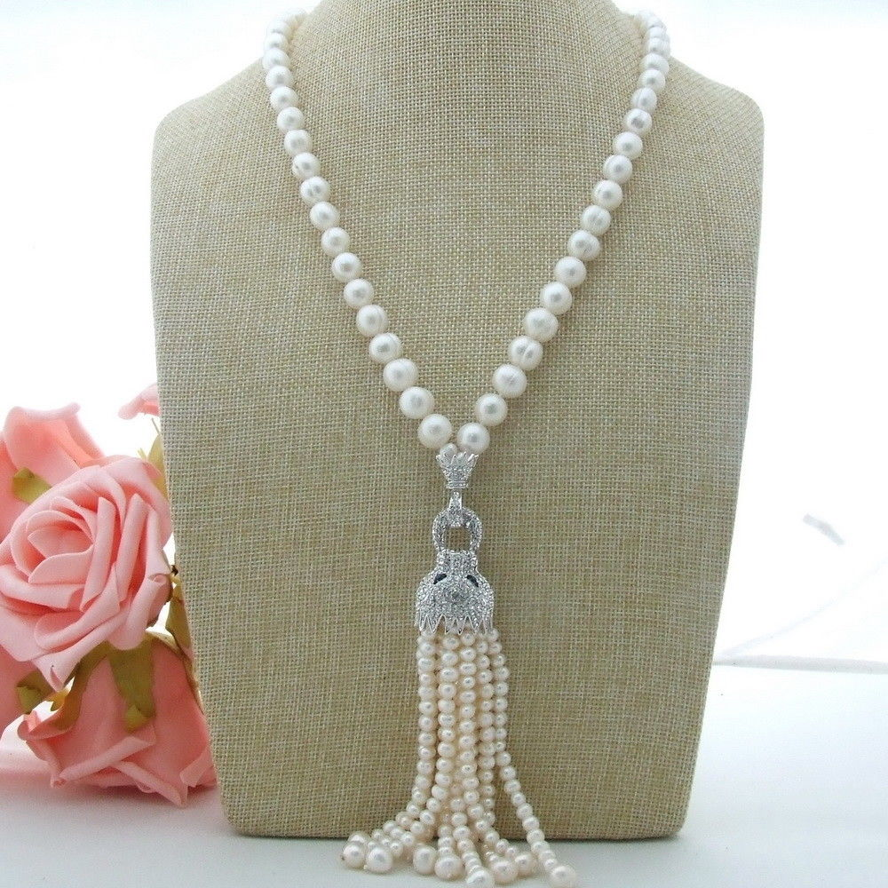 AB012403 collier pendentif perle blanche 23
