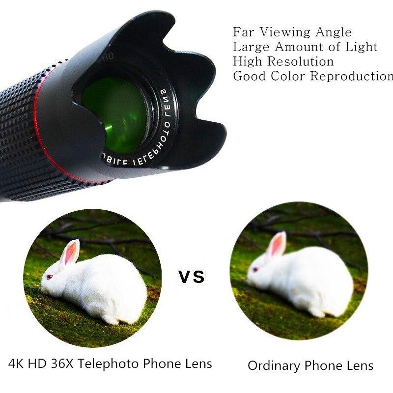 Image 3 - Orsda 4K HD 36X Optical Zoom Camera Lens Telephoto Lens Mobile Telescope Phone for Smartphone Cellphone lente para celular-in Mobile Phone Lens from Cellphones & Telecommunications