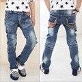 Дети верхняя одежда мальчиков Джинсы Молодежные мальчики дети брюки джинсы случайные брюки дети мальчики верхней одежды бесплатная доставка