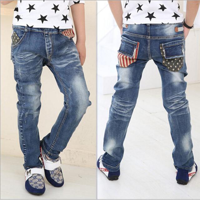 Crianças outwear meninos Calça Jeans Juventude meninos crianças calças jeans casual calças meninos crianças outwear frete grátis