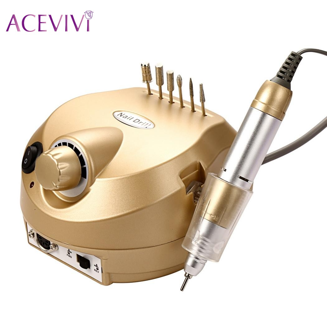 ACEVIVI 35000RPM Manicure Nail Drill Art Machine Tool Pedicure Electric File Kit Set pro powerful 25000rpm electric nail drill pedicure manicure machine set with pedal