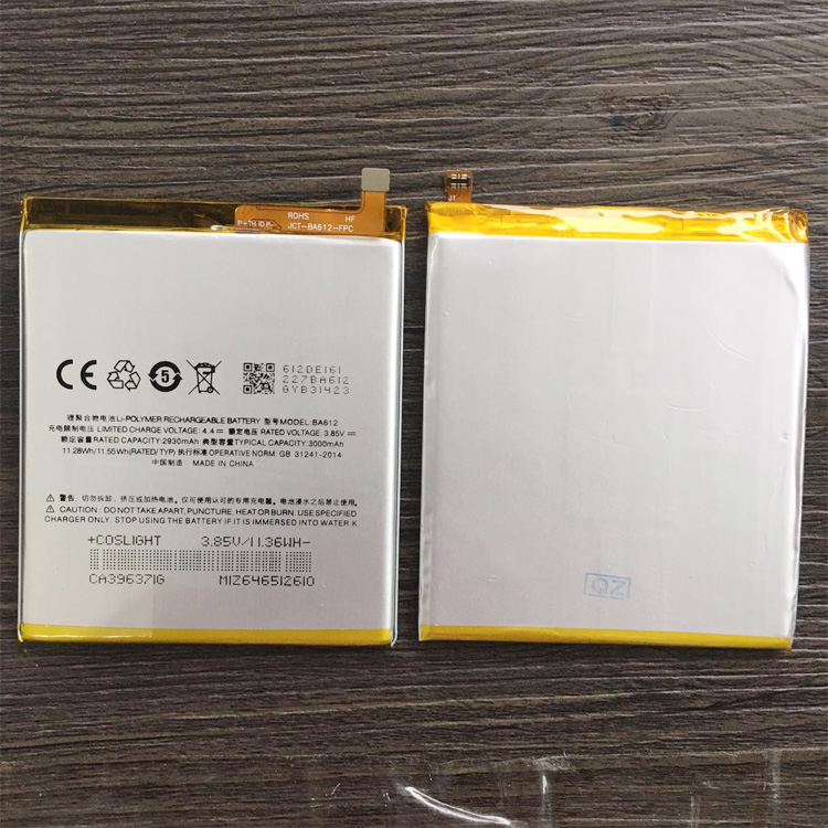 BA612 Battery For Meizu 5S M5S M612Q M612M Battery 3000mAh With Tracking Number