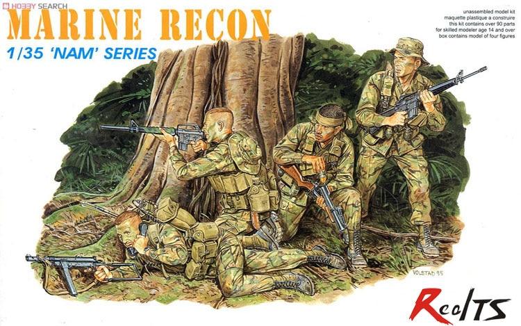 RealTS Dragon 1/35 3313 US Marine Force Recon (Vietnam War
