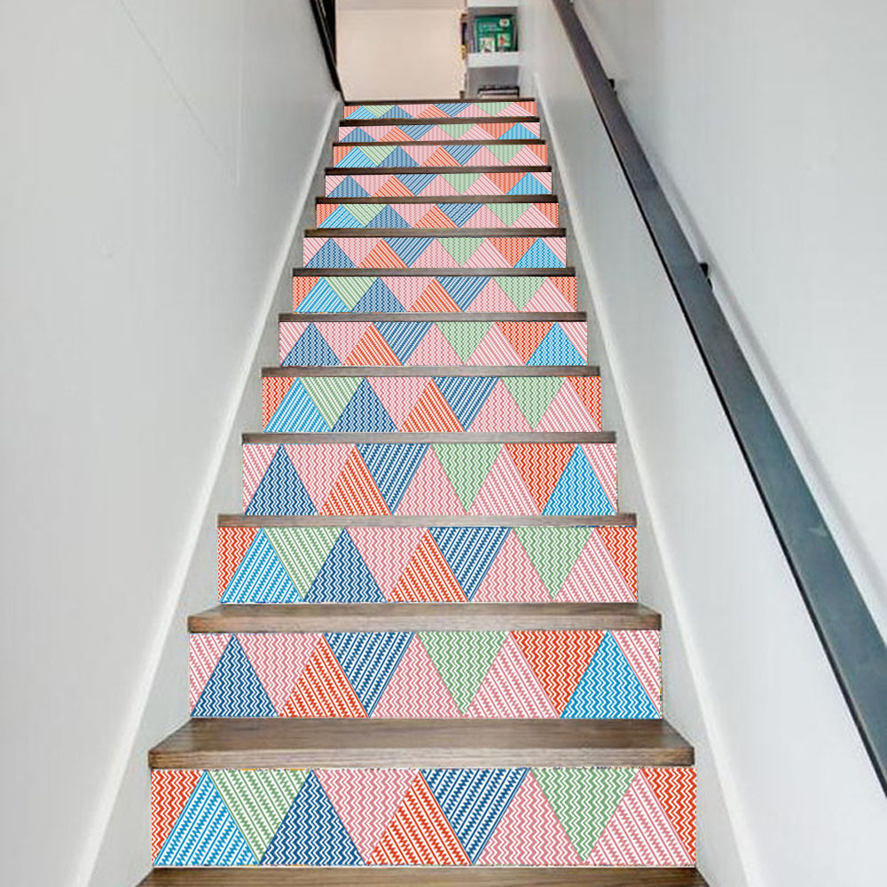 2018 Promotion New Arrival Sale Geometric Home Office Decal Stairs Stickers Hotel Room Decoration Poster Plane Wall Sticker
