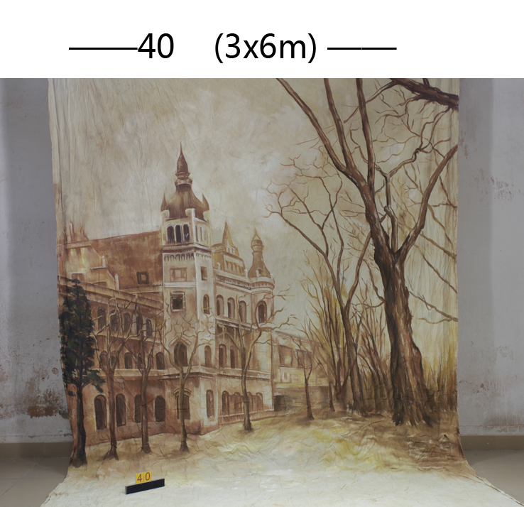 2016new10*20ft Hand Painted Muslin scenic Backdrops for photography,toile de fond studio photo 40 ,vintage photography backdrops 3m 6m hand painted muslin scenic backdrop fc023 toile de fond studio photo photo studio props baby photography studio backdrop