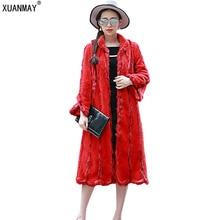 Autumn and winter new women s imitation fur coat imitation water sable fur rex rabbit large
