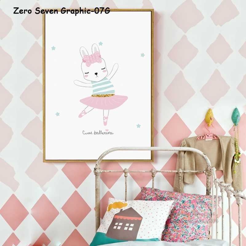 07G Cartaz E Pintura Da Lona de Impressão Adorável Glitter Princesa Unicórnio Dos Desenhos Animados Imagens Da Arte Da Parede Para O Quarto do bebê Menina decoração