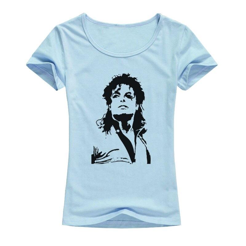 2017 Fashion Women T-shirt Michael Jackson Design Short Sleeve Tops Rock kawaii T Shirt Mujer Hipster Tshirts A119