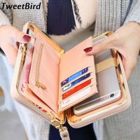 TWEET BIRD Women PU Leather Wallet Clutch Bag Wallet Zipper Long Purses Card Holder Ladies Large