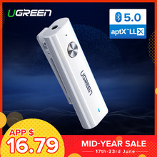Ugreen Bluetooth 5.0 Receiver 3.5mm APTX LL AUX Adapter for Headphone Speaker Music Wireless Bluetooth 3.5 Jack Audio Receiver(China)