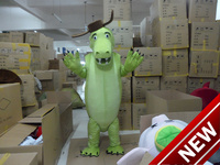 2018 New Brown Hat Green Crocodile Cartoon Character Costume Cosplay Custom Products Custom Free Shipping