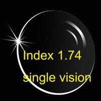 Index 1.74 Single Vision Lens UV400/ Ultra Thin/ Anti-Reflective And Anti-Scratch HMC