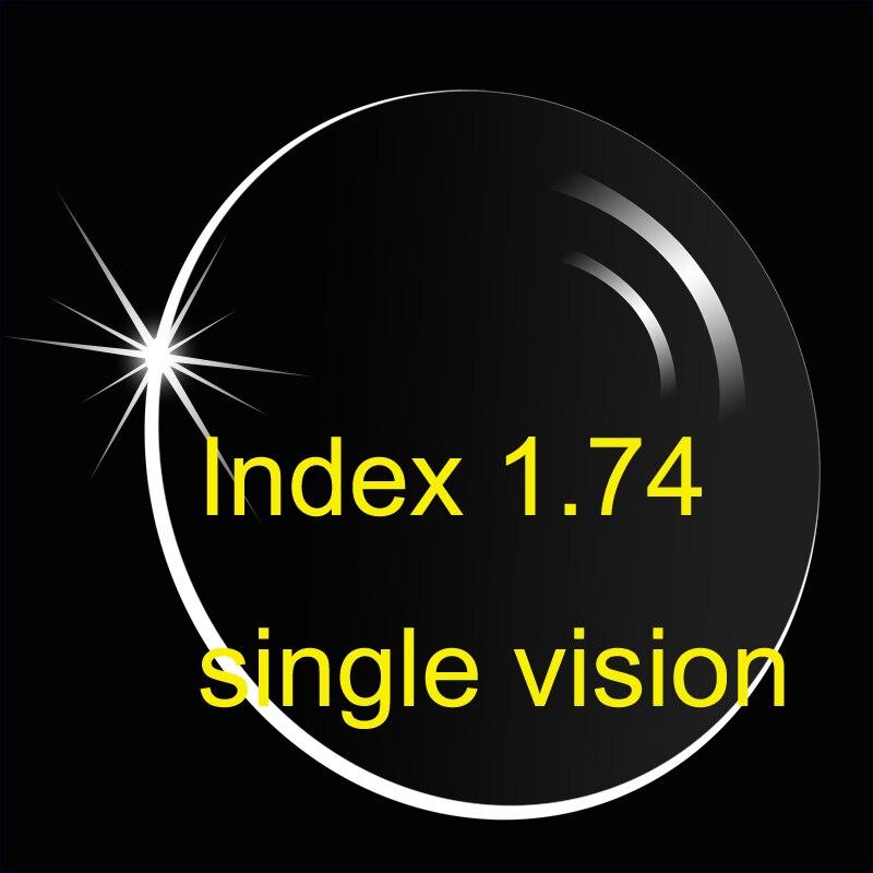 Indice 1.74 lentille à Vision unique UV400/Ultra mince/anti-reflets et anti-rayures HMC