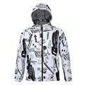 Autumn New Style 3D Pattern Print Men Windbreaker Jacket Zipper Hoodies Jacket Outwear Coat with Cap Large Size