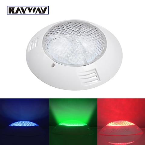 54w rgb piscina lampada ip68 luzes lagoa subaquatica holofotes de controle remoto a prova d