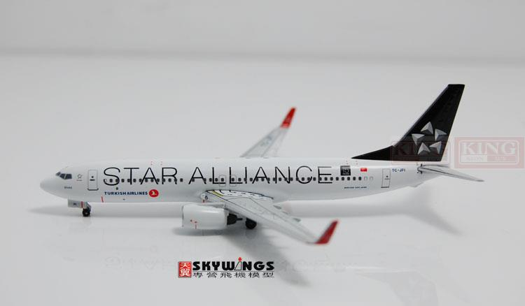 WT4738015 Witty Turkey Airlines B737-800/w Star Alliance 1:400 commercial jetliners plane model hobby special offer wings xx4361 jc singapore wins an aviation 9v mga 1 400 b737 800 w commercial jetliners plane model hobby